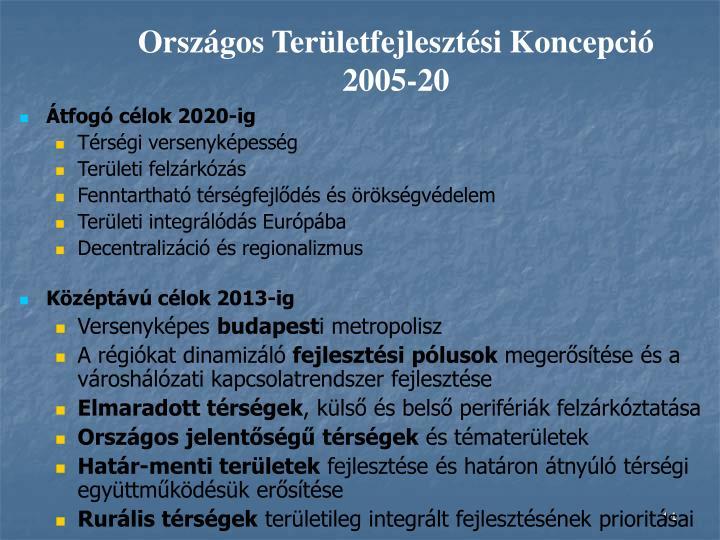 Országos Területfejlesztési Koncepció 2005-20