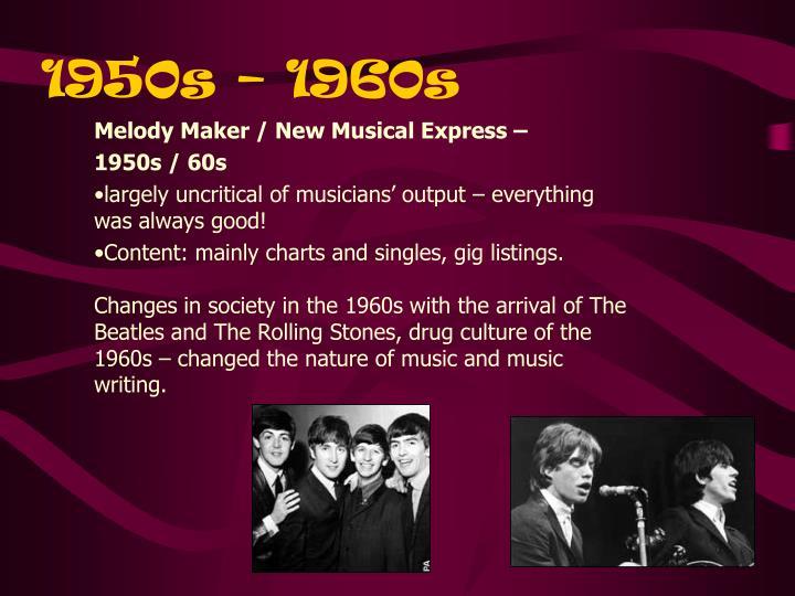 1950s – 1960s