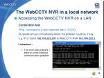 the webcctv nvr in a local network6