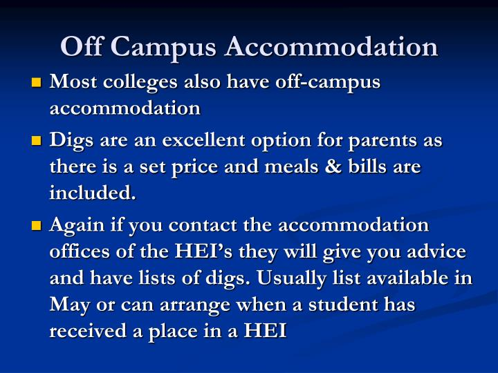 Off Campus Accommodation