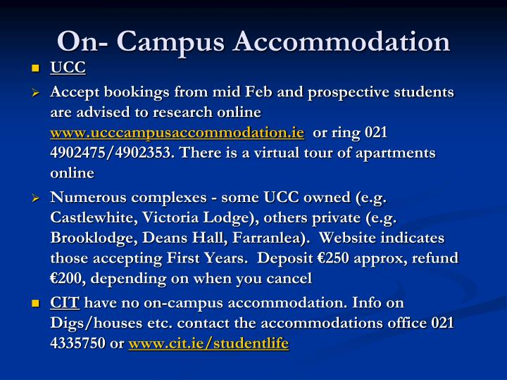 On- Campus Accommodation
