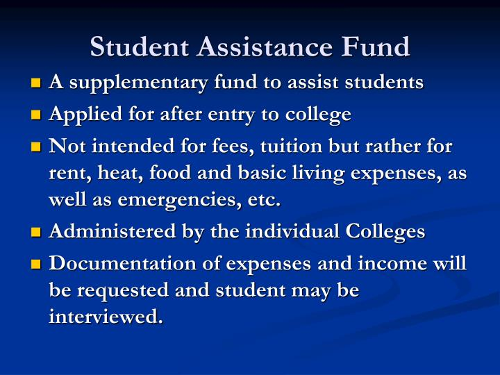 Student Assistance Fund
