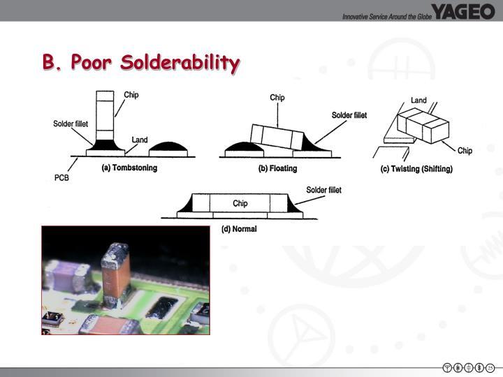 B. Poor Solderability