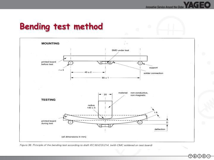 Bending test method