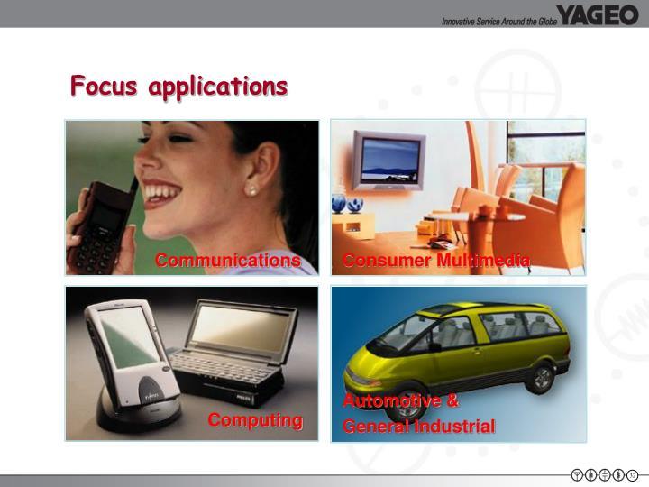 Focus applications