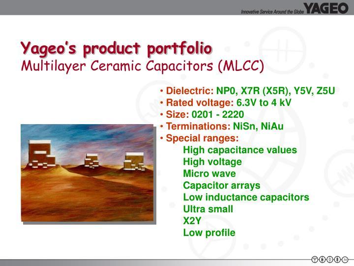 Yageo's product portfolio