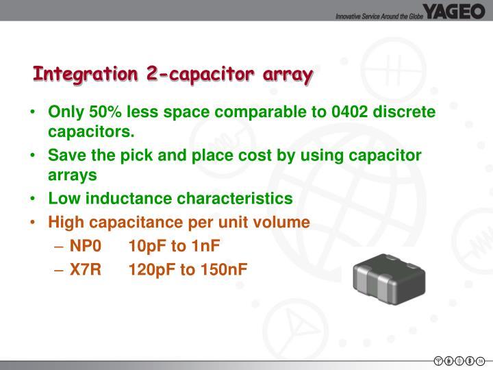 Integration 2-capacitor array