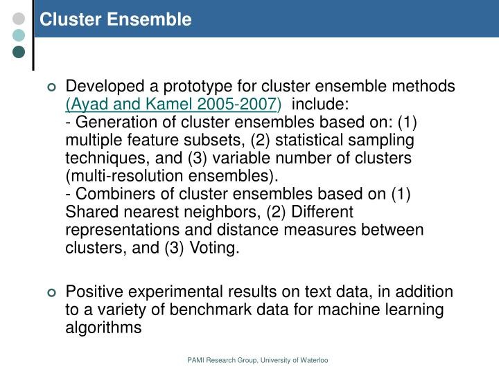 Cluster Ensemble