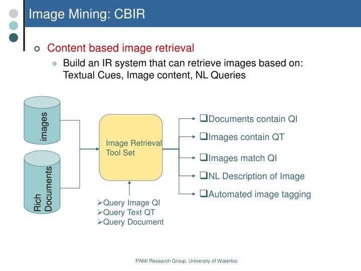 Image Mining: CBIR
