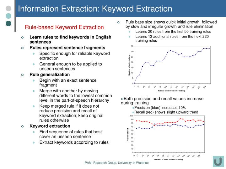 Information Extraction: Keyword Extraction