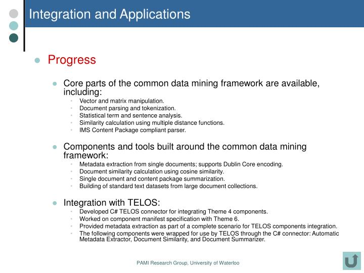 Integration and Applications