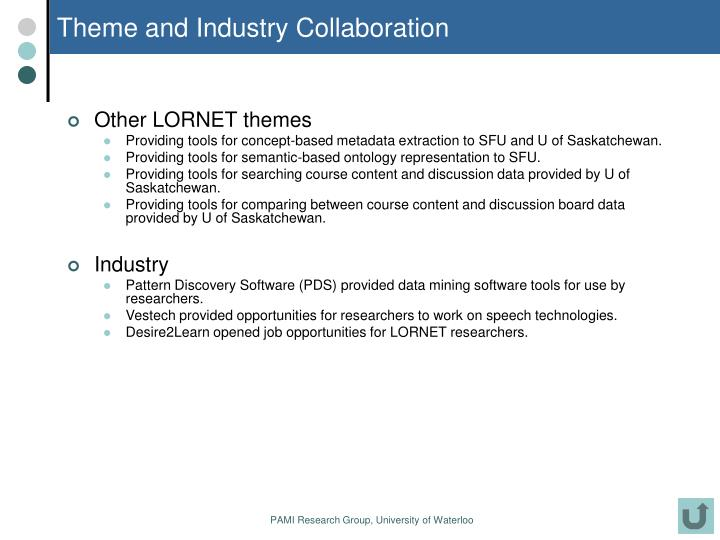 Theme and Industry Collaboration
