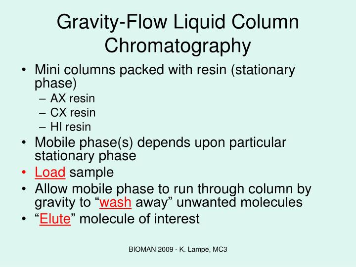 Gravity-Flow Liquid Column Chromatography