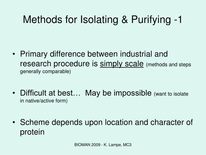 Methods for Isolating & Purifying -1