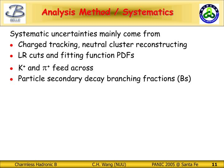 Systematic uncertainties mainly come from