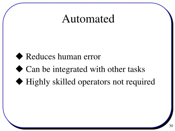  Reduces human error
