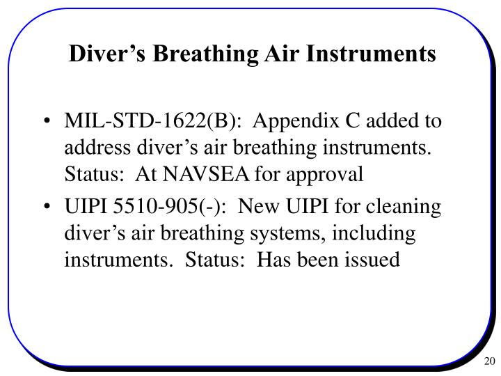 Diver's Breathing Air Instruments