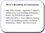 diver s breathing air instruments
