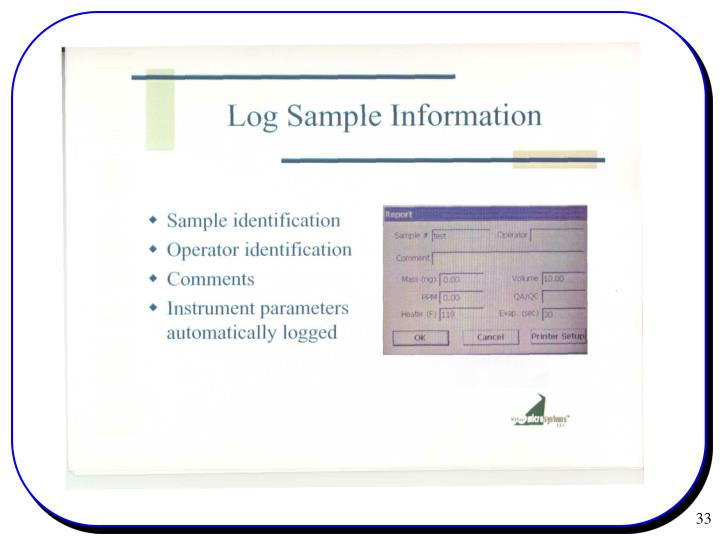 Log Sample Information