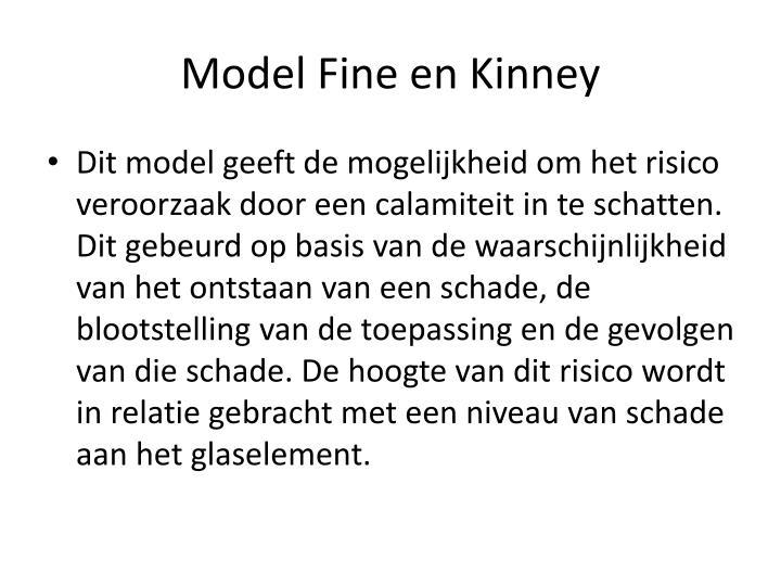 Model Fine en Kinney