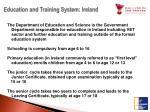 education and training system ireland