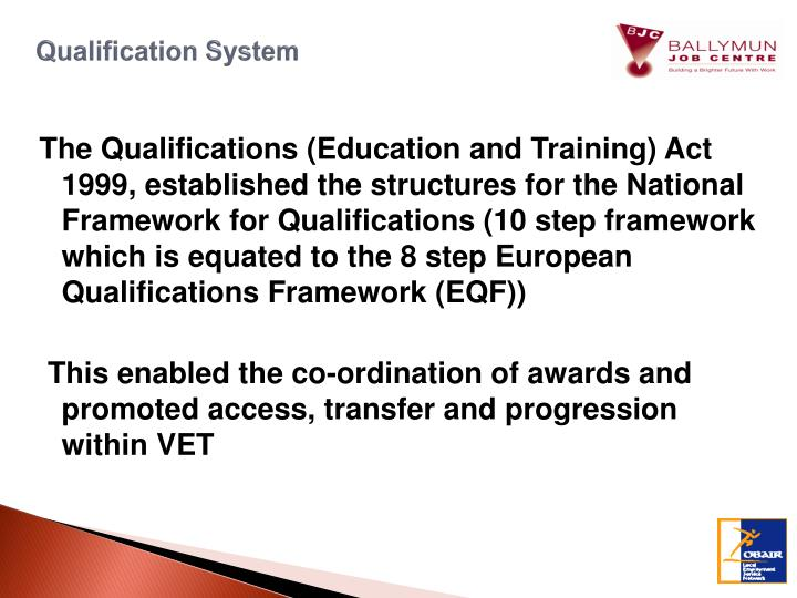Qualification System