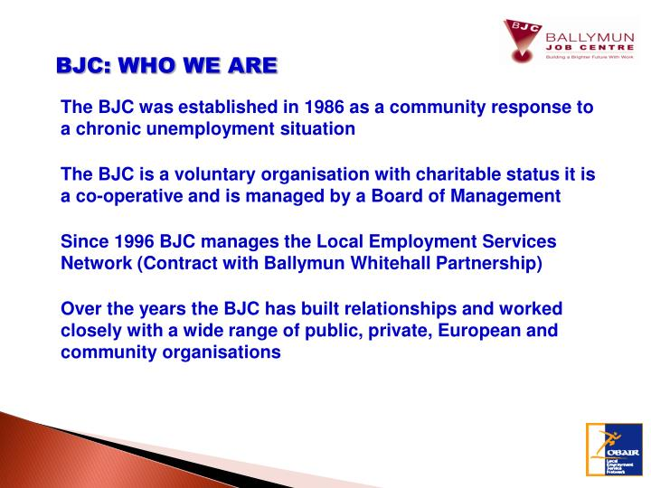 BJC: WHO WE ARE