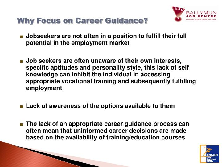 Why Focus on Career Guidance?