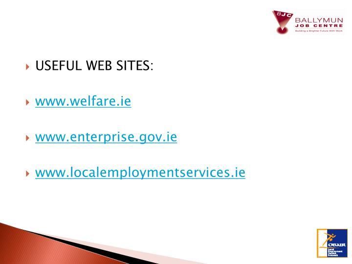 USEFUL WEB SITES: