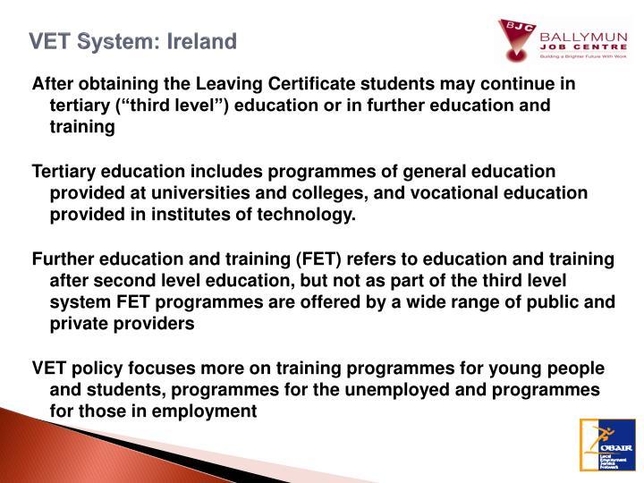 VET System: Ireland