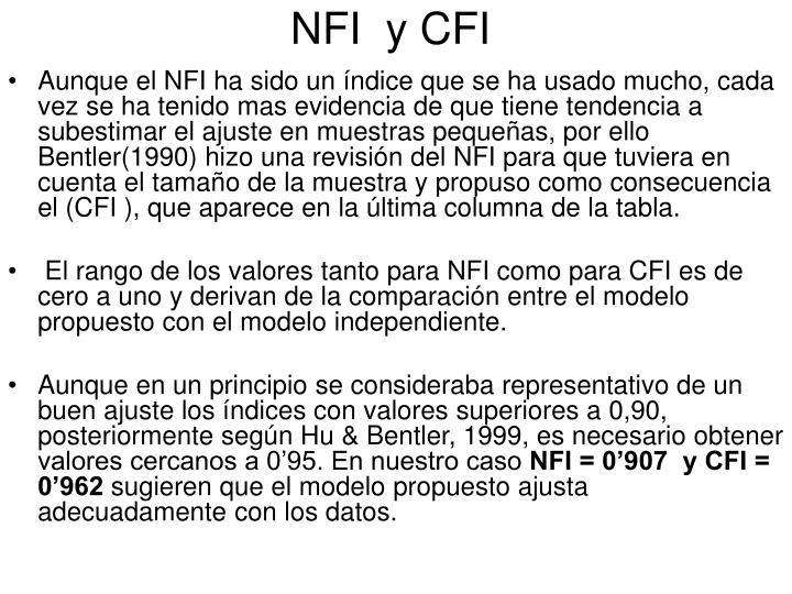 NFI  y CFI