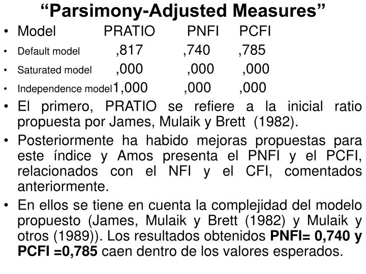 """""""Parsimony-Adjusted Measures"""""""