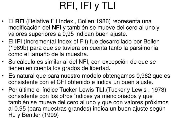 RFI, IFI y TLI
