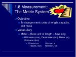 1 8 measurement the metric system