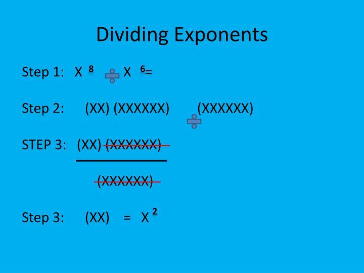 Dividing Exponents