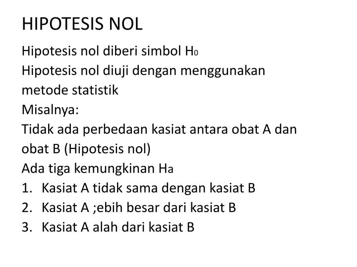 HIPOTESIS NOL