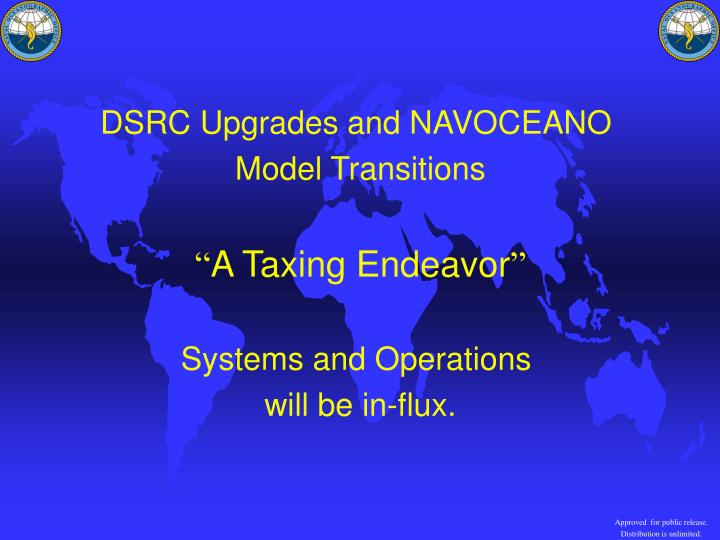 DSRC Upgrades and NAVOCEANO