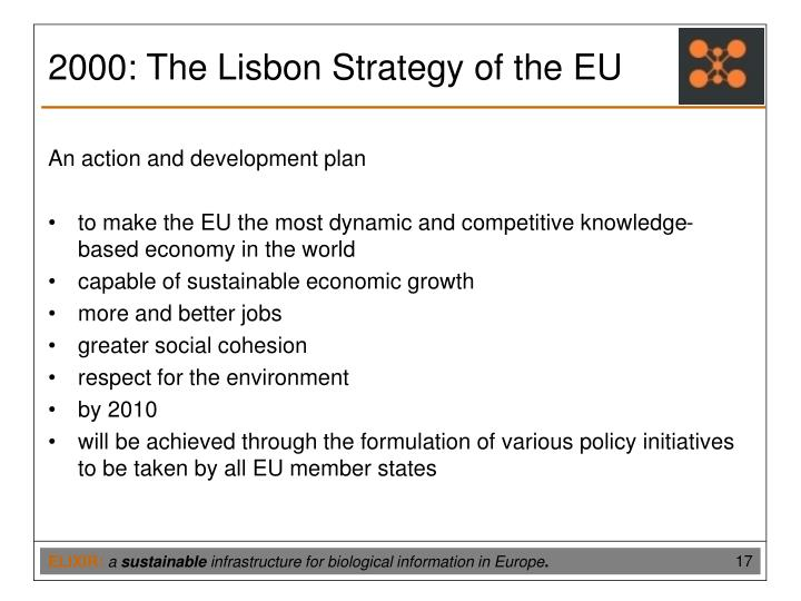2000: The Lisbon Strategy of the EU