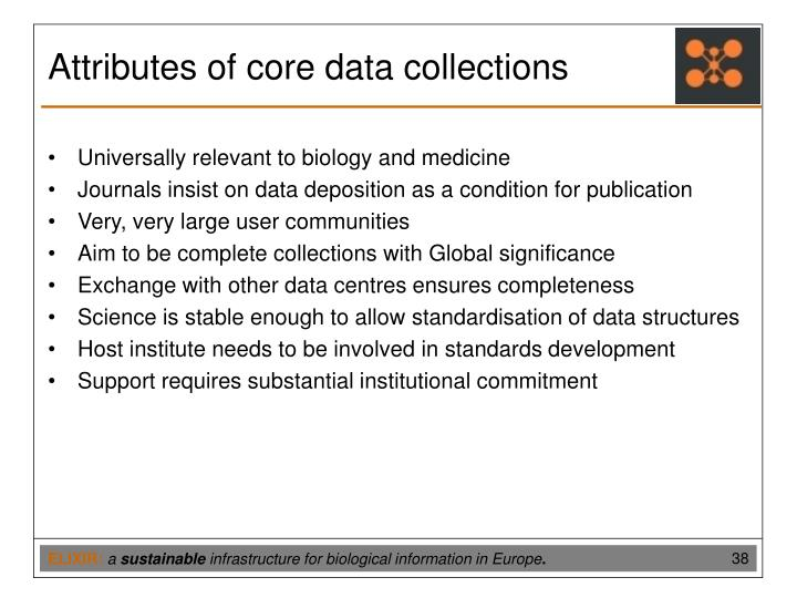 Attributes of core data collections
