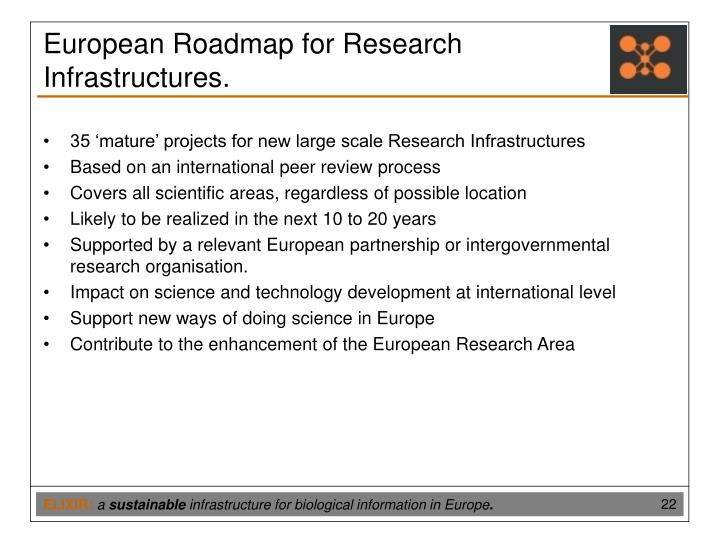 European Roadmap for Research Infrastructures.