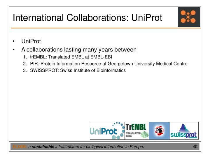 International Collaborations: UniProt