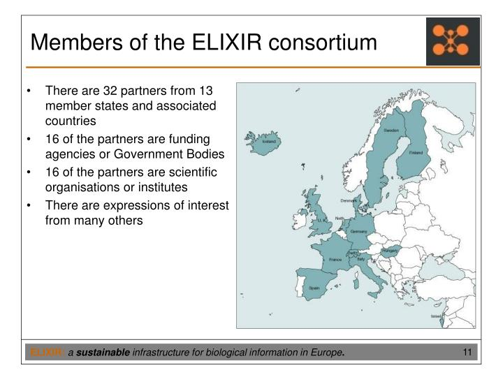 There are 32 partners from 13 member states and associated countries