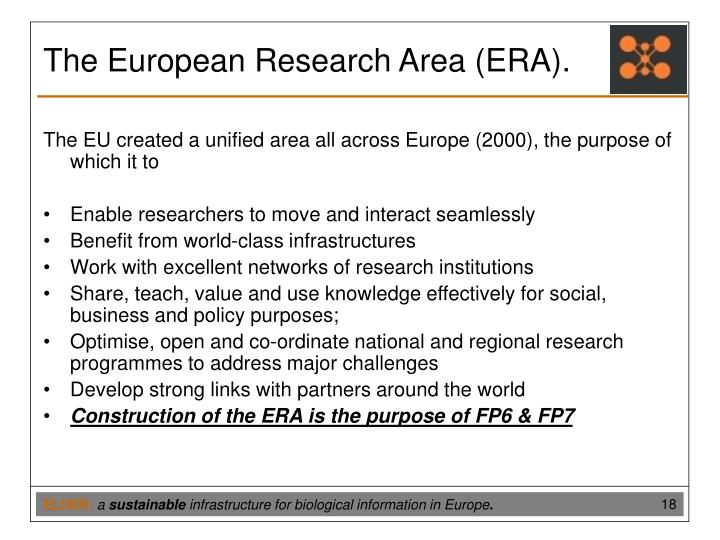 The European Research Area (ERA).