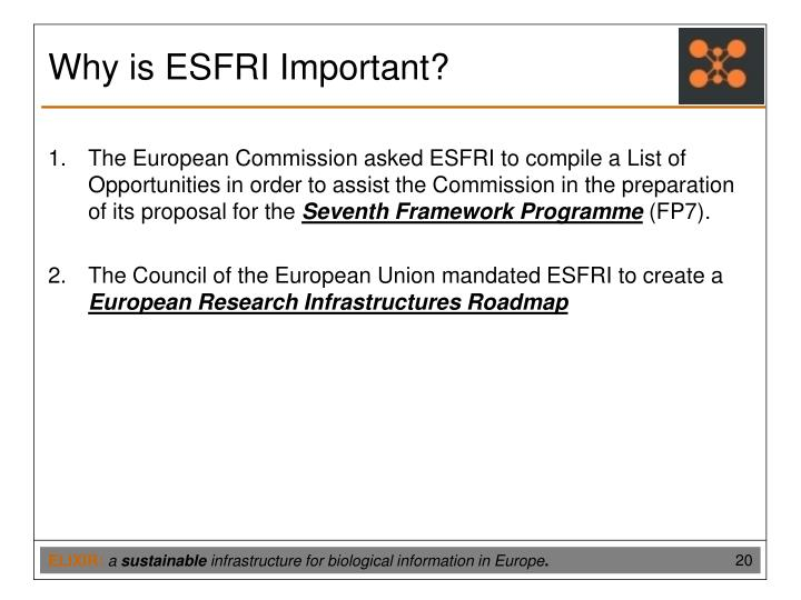 Why is ESFRI Important?