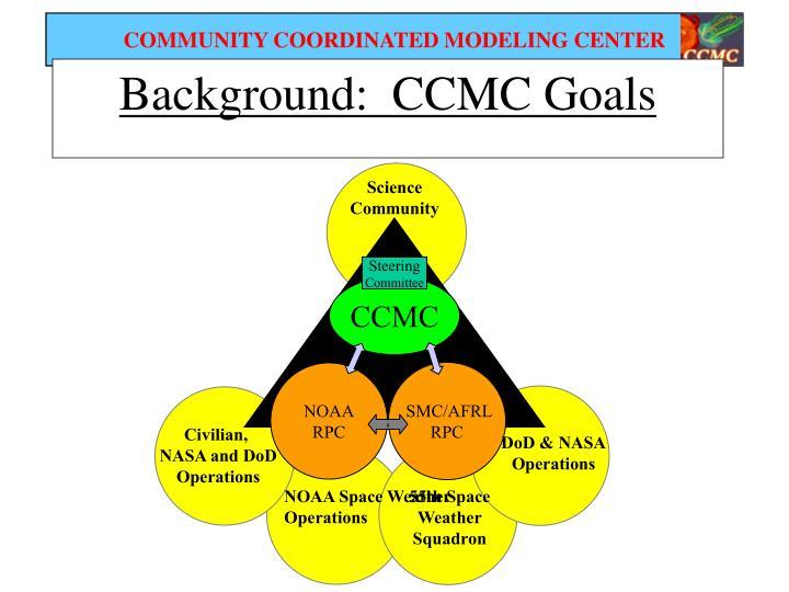 Background:  CCMC Goals