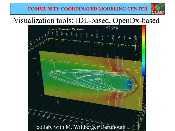 Visualization tools: IDL-based, OpenDx-based