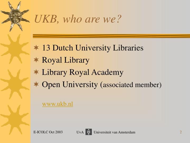 UKB, who are we?