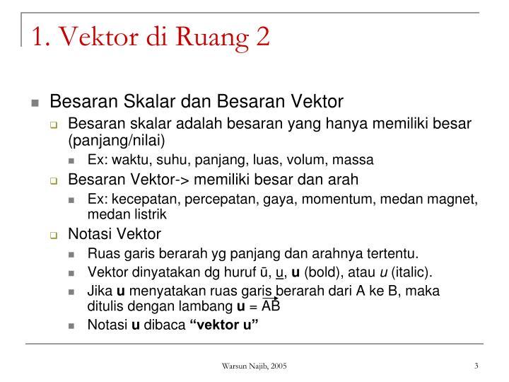 1. Vektor di Ruang 2