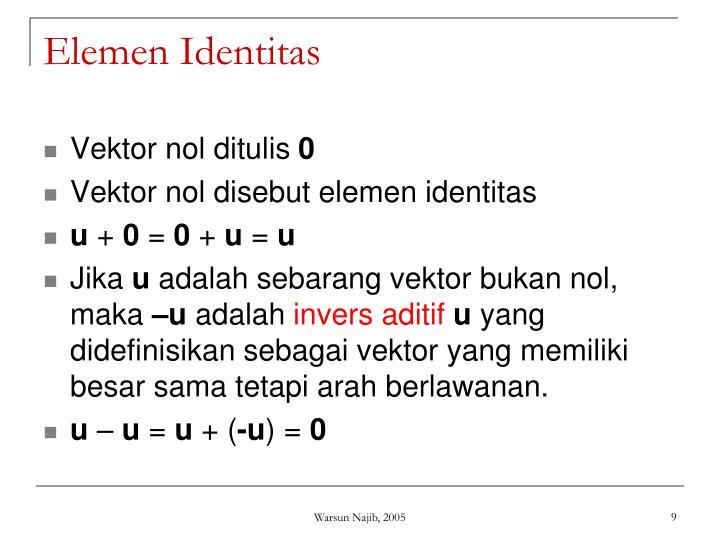 Elemen Identitas