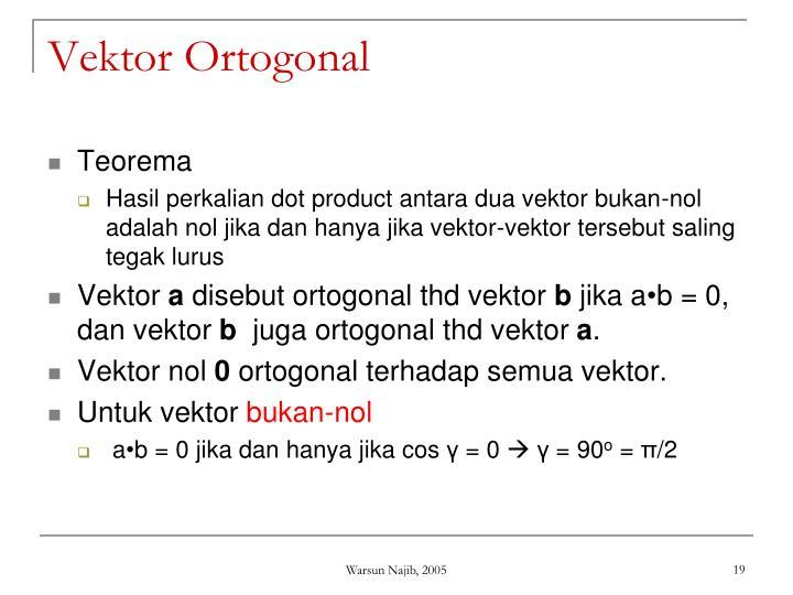 Vektor Ortogonal